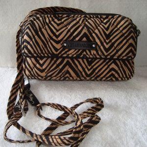 Black and Brown Pattern Vera Bradley Crossbody Bag